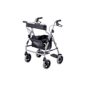 Déambulateur quatre roues 2 en 1 - fauteuil de transfert