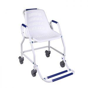 chaise de douche atlantis avec 4 roues